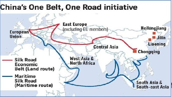 OBOR - Route Map