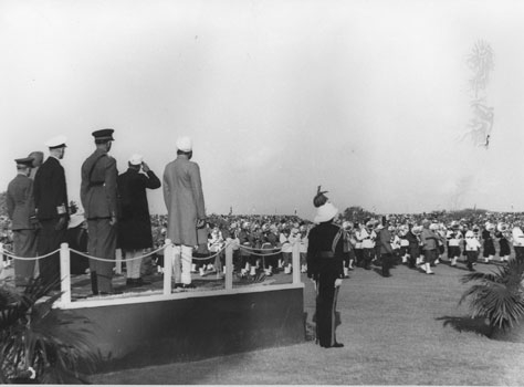The President addressing the Crowd at Irwin Stadium