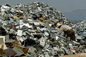Heaps of electronic waste